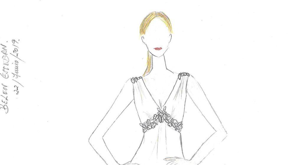 Foto: El boceto del segundo vestido de Belén. (Vanitatis)