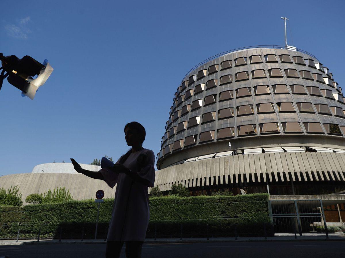 Foto: Vista del exterior del edificio del Tribunal Constitucional. (EFE)