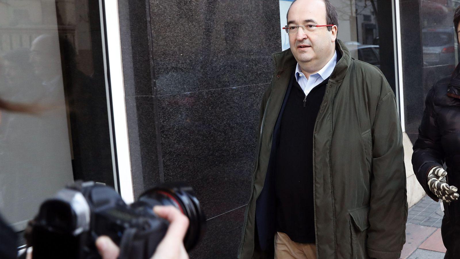 Foto: Miquel Iceta, primer secretario del PSC, a su llegada al último comité federal del PSOE, el pasado 14 de enero en Ferraz. (EFE)