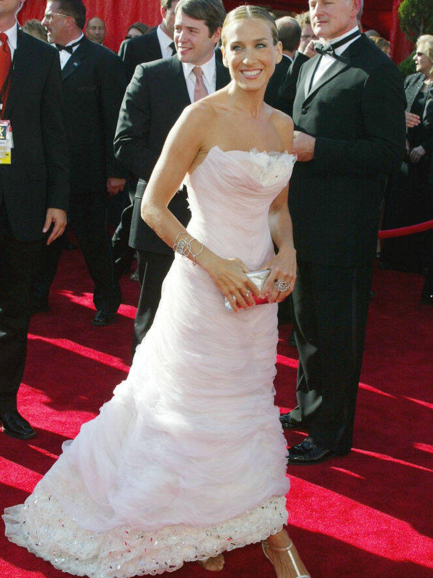 Sarah Jessica Parker en los Premios Emmy 2003. (Getty Images)