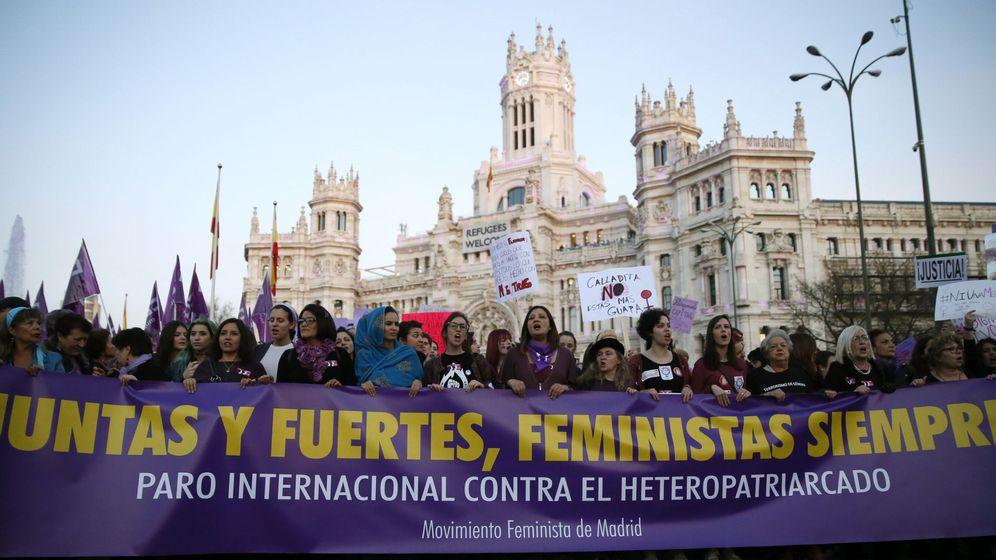 Foto: Manifestación del pasado año en Madrid coincidiendo con el Dia de la Mujer. (EFE)