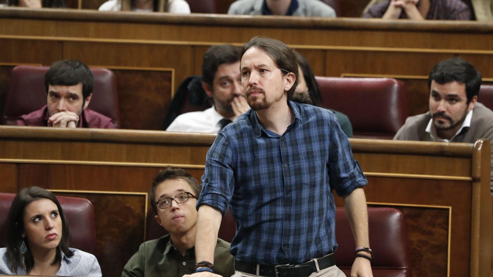 Foto: Pablo Iglesias en el debate de investidura. (EFE)