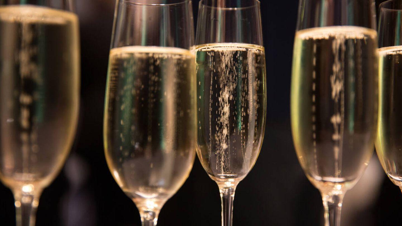 Las burbujas del champán.