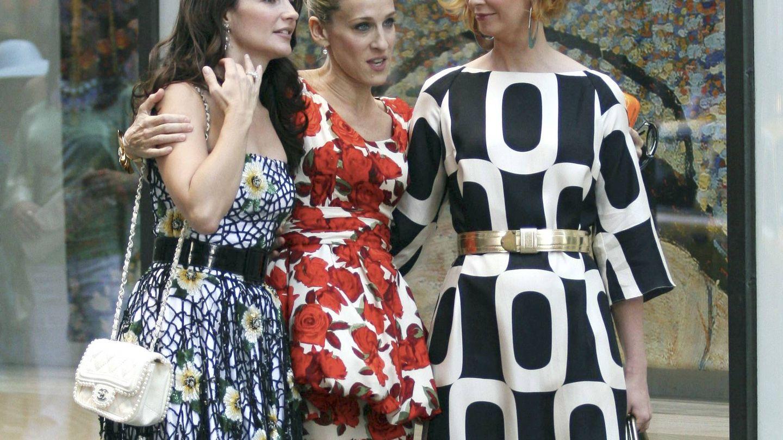 Sarah Jessica Parker, Kristin David y Cynthia Nixon en una imagen de la película. (Gtres)