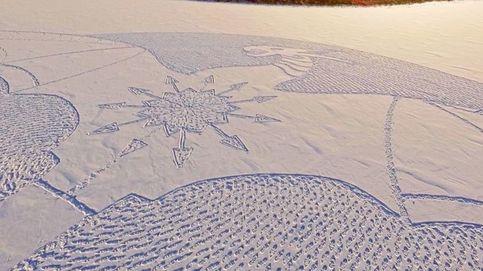 Así es el misterioso dragón de nieve que ha aparecido en Siberia