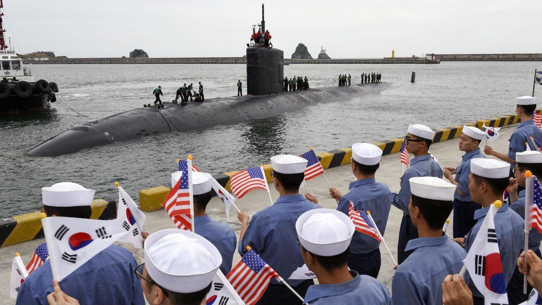 Foto: El submarino nuclear estadounidense USS Cheyenne en Corea del Sur, en 2017. (EFE)