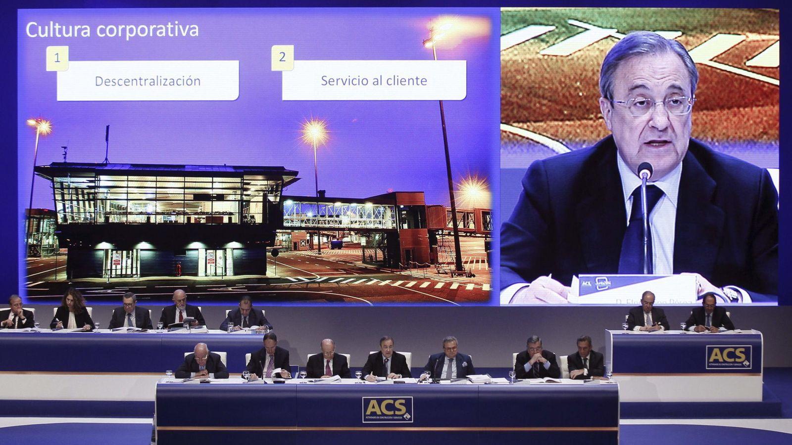 Foto: Junta de accionistas de ACS. (EFE)