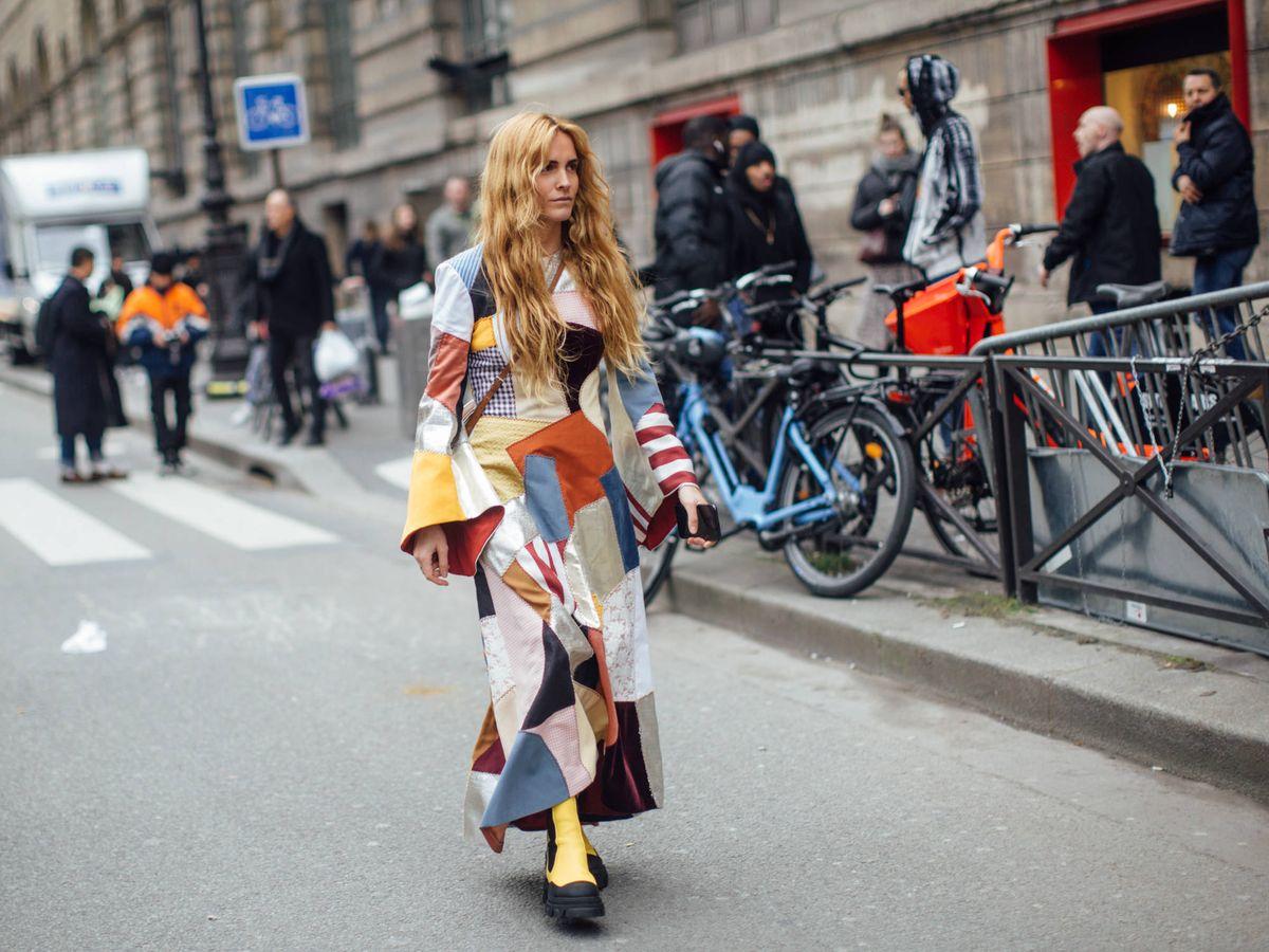 Foto: Blanca Miró, en las calles de París. (Imaxtree)