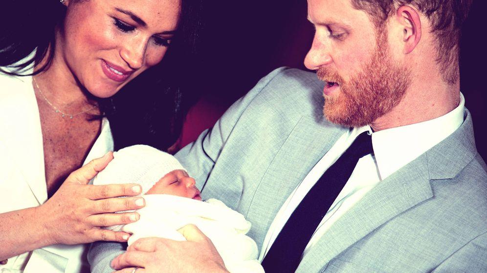 Foto: Archie, Meghan y Harry. (Getty)