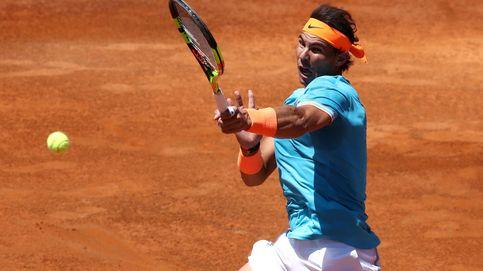El chaparrón de Rafa Nadal y su dulce 'entrenamiento' ante Chardy en Roma