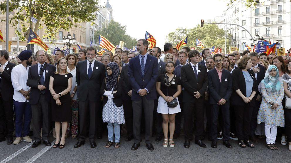 17-A: la Generalitat y el secesionismo oficial reculan unas horas por la visita del Rey