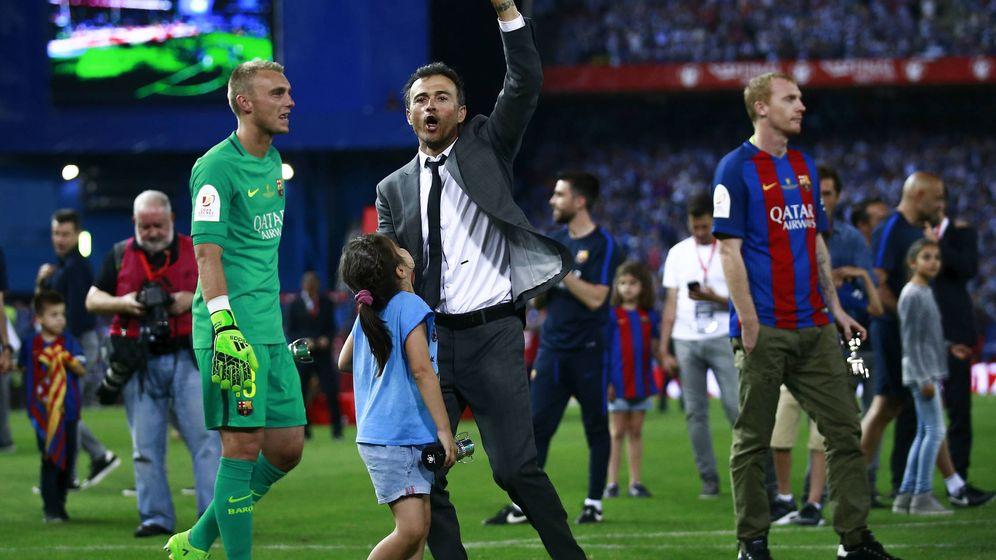 Foto: Luis Enrique celebra la Copa del Rey en Madrid | Reuters
