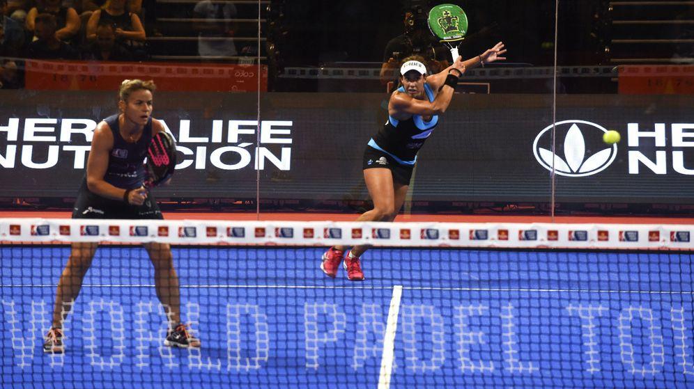 Foto: Marta Marrero y Cata Tenorio se impusieron a Marta Ortega y Ariana Sánchez en la primera semifinal del Granada Open. (EFE)