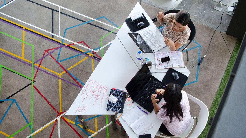Una oficina abierta de 'coworking'. (Pexels)