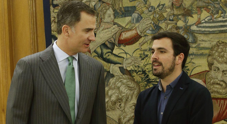 El Rey recibe a Alberto Garzón la mañana del miércoles. (EFE)