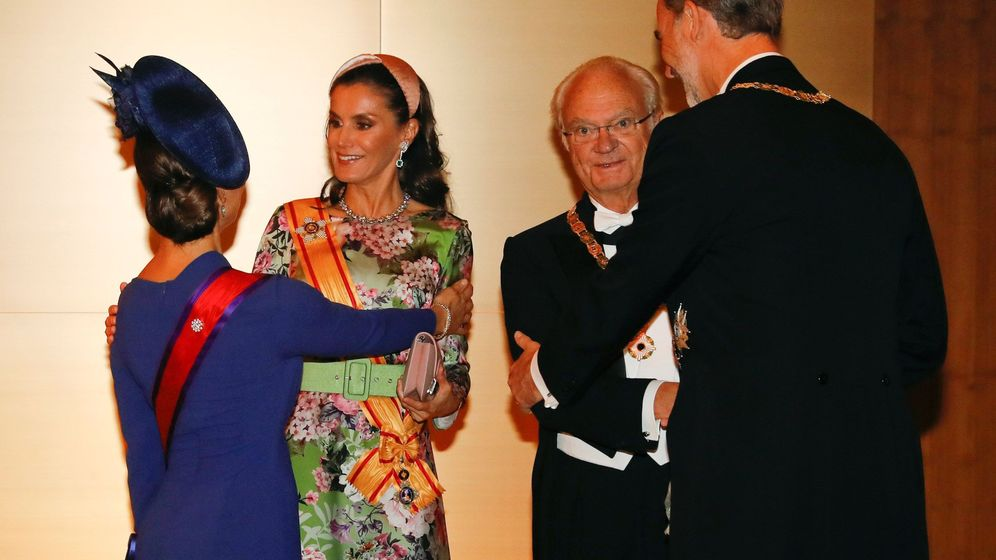 Foto: Letizia y Felipe, junto a Victoria y Carlos Gustavo de Suecia. (EFE)