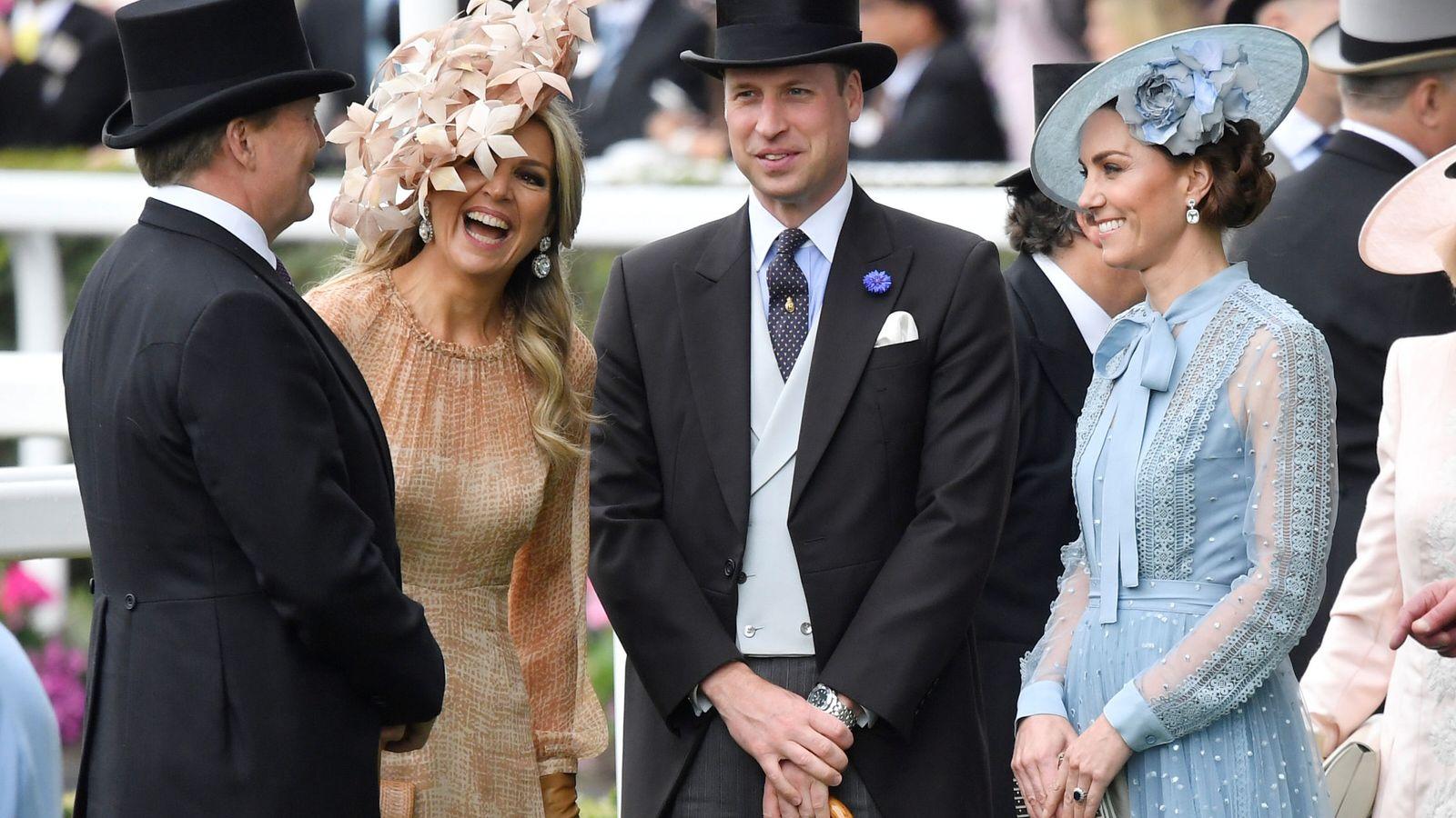 Foto: Los reyes de Holanda en Ascot junto con los duques de Cambridge. (Reuters)