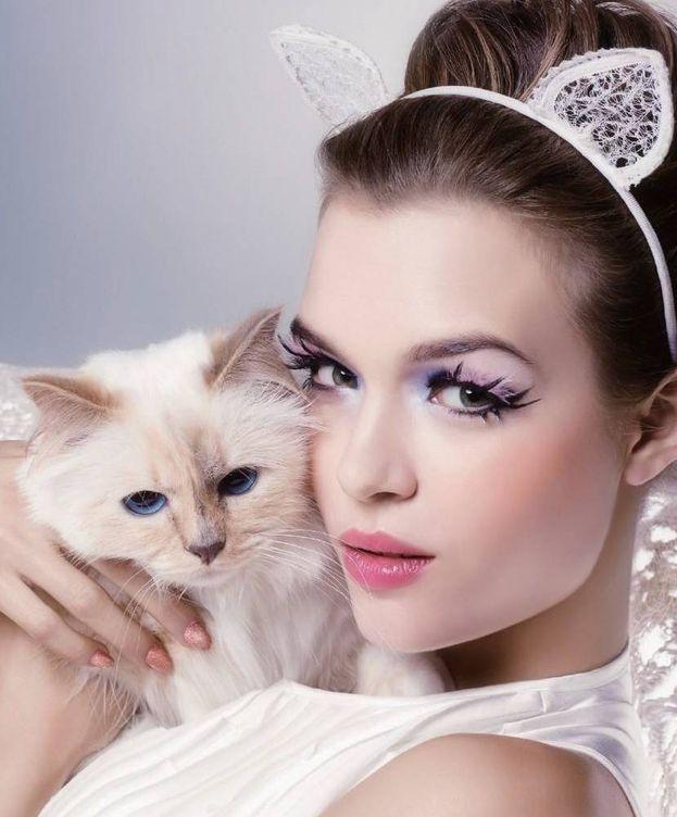 Foto: La gata de Lagerfeld, Choupette, ha protagonizado campañas de belleza para Shu Uemura