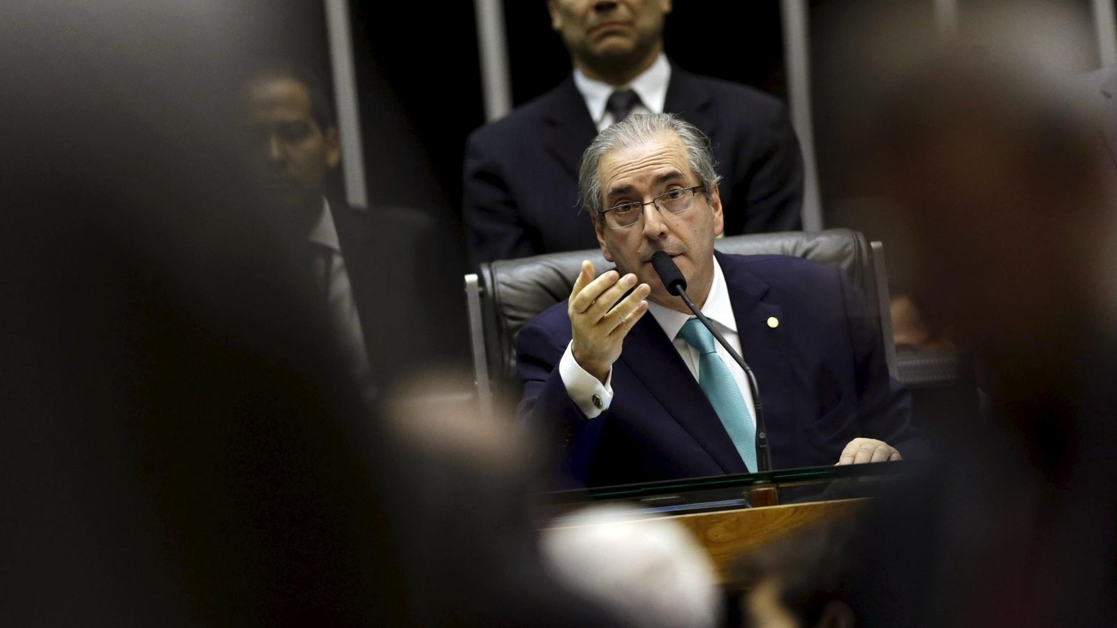 Foto: El presidente de la Cámara de Diputados brasileña, Eduardo Cunha, durante una sesión de la cámara en Brasilia, el 6 de agosto de 2015 (Reuters).