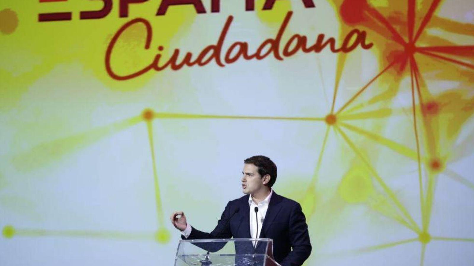 Foto: Albert Rivera, durante su intervención este 20 de mayo en Madrid. (Foto: España Ciudadana)