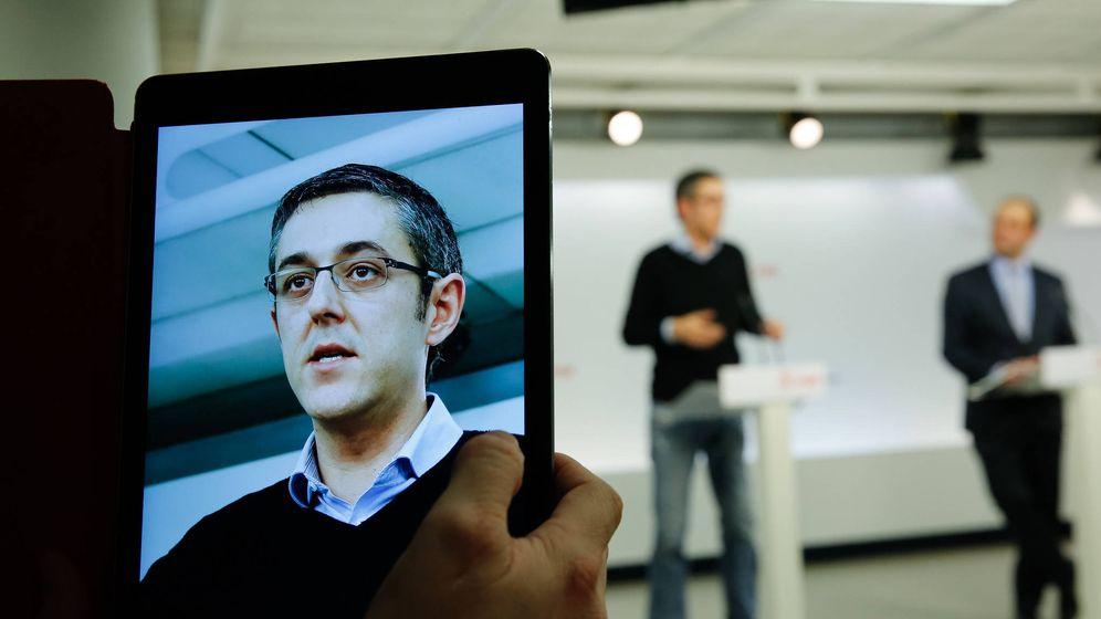 Foto: El diputado Eduardo Madina, durante su rueda de prensa con José Carlos Díez en Ferraz, el pasado 27 de enero en Ferraz. (Inma Mesa | PSOE)