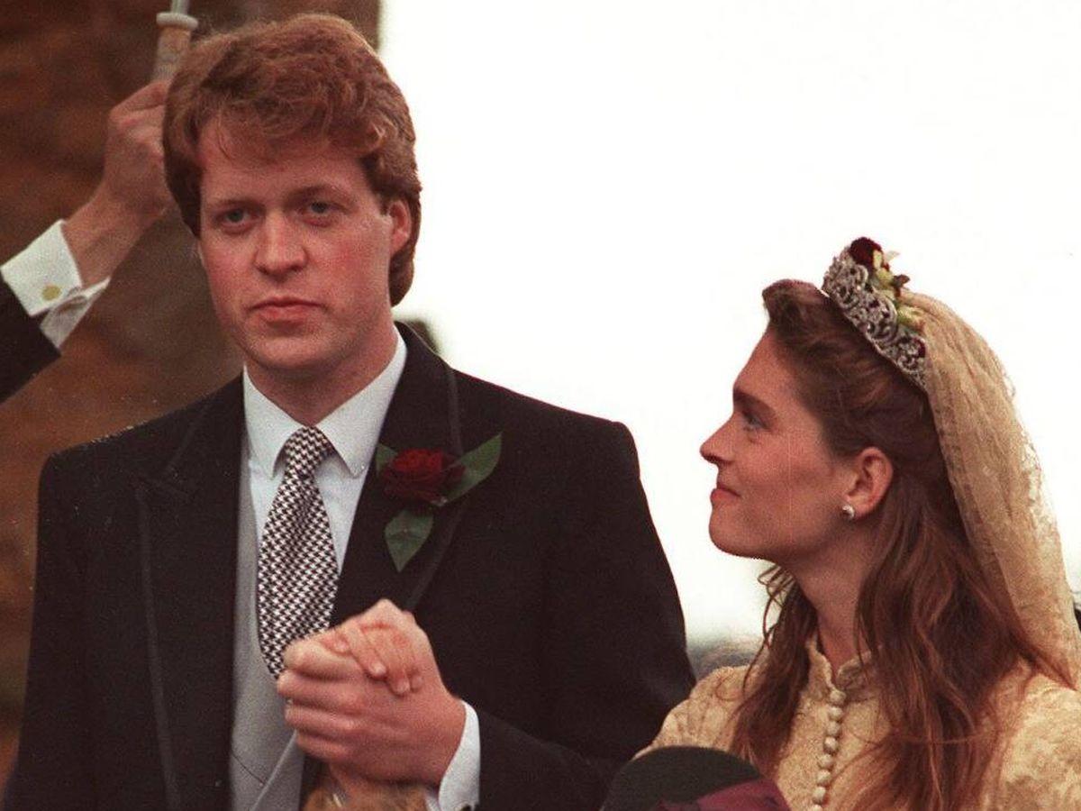 Foto: Charles Spencer y Victoria Lockwood, el día de su boda. (Cordon Press)