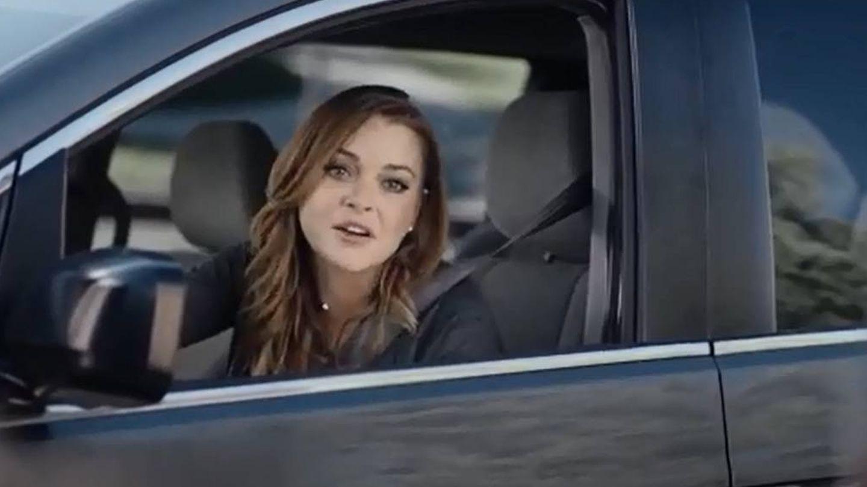Lindsay Lohan en un anuncio de la Super Bowl.