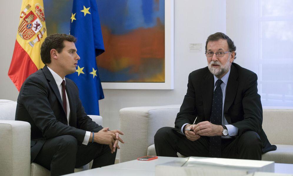 Foto: Mariano Rajoy y el líder de Ciudadanos, Albert Rivera, el pasado 2 de octubre en La Moncloa. (EFE)