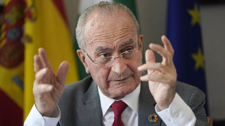 El alcalde de Málaga, durante la entrevista con EC. (Germán Pozo)