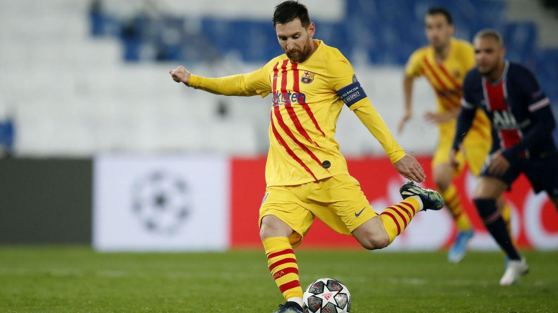 Leo Messi falló el penalti. (Reuters)