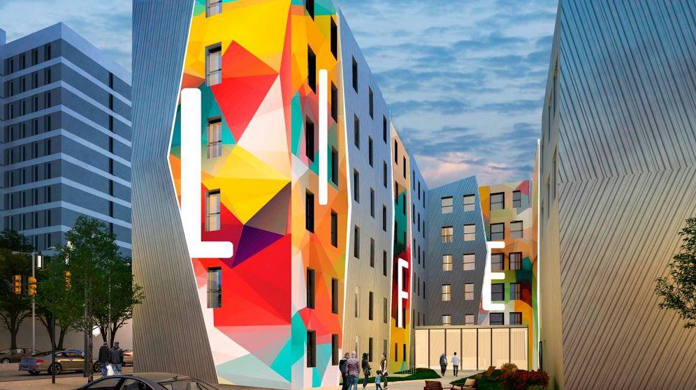 Foto: Proyecto de una de las residencias de estudiantes de Syllâbus by Urbania en Madrid.
