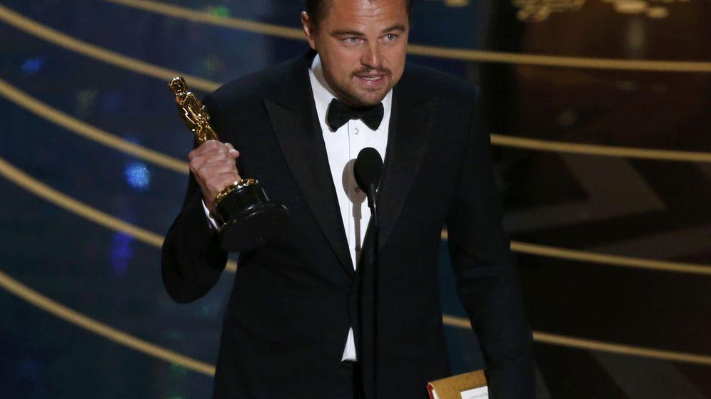 Foto: Leonardo Di Caprio recibe un Oscar por su papel en 'El renacido.' (Reuters)