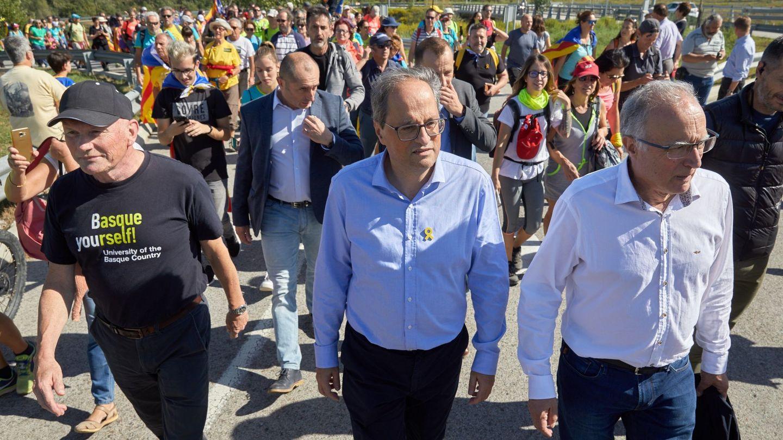 Torra, en una protesta contra la sentencia del 'procés' en Barcelona. (EFE)