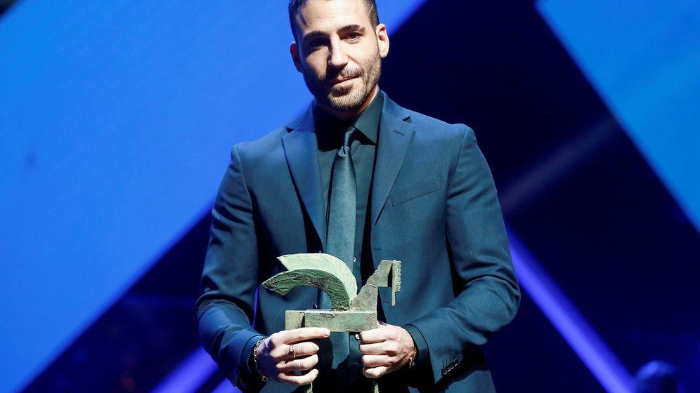 Foto: Miguel Ángel Silvestre, premiado como mejor intérprete masculino en ficción por 'En el corredor de la muerte'. (EFE)