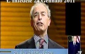 Berlusconi pierde los papeles en un programa de televisión