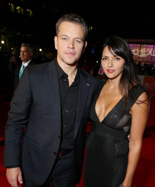 Foto: Matt Damon y su mujer Luciana Barroso en la premiere de 'Marte' (Gtres)