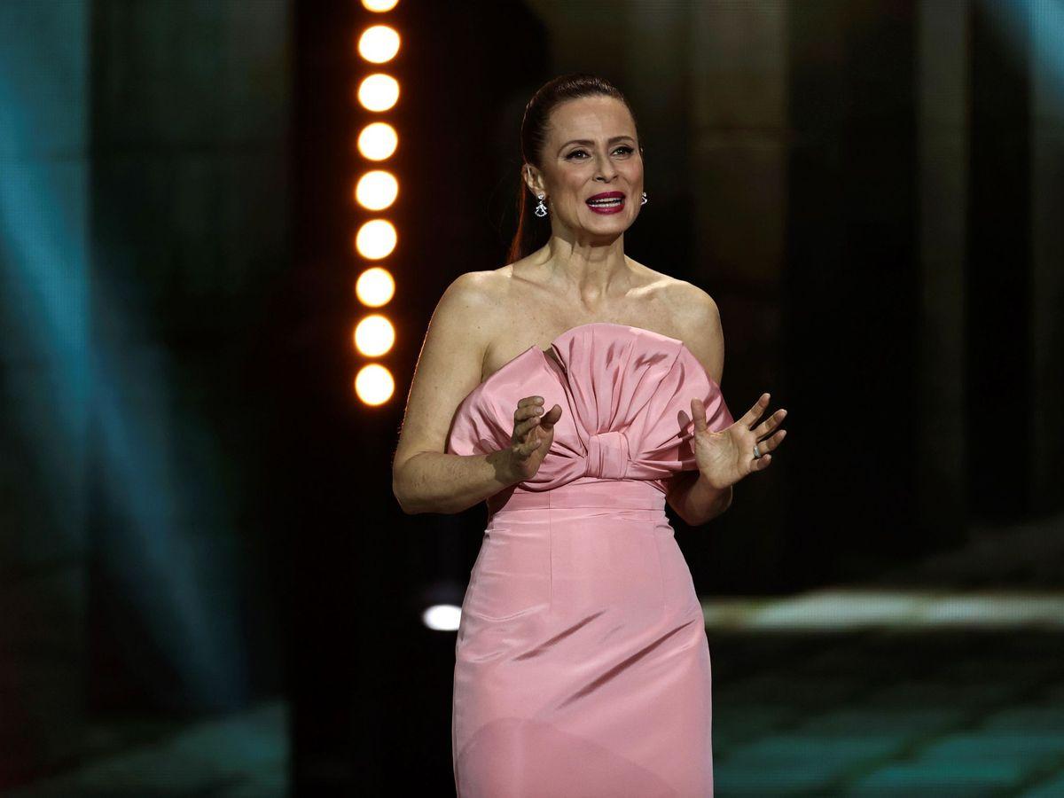 Foto: Aitana Sánchez-Gijón, durante la entrega de los Premios Forqué. (EFE)