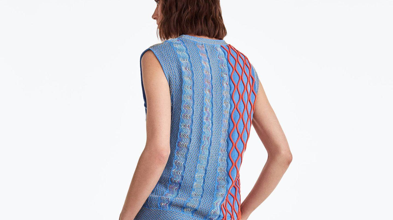 El patrón geométrico se repite en la espalda. (Cortesía)