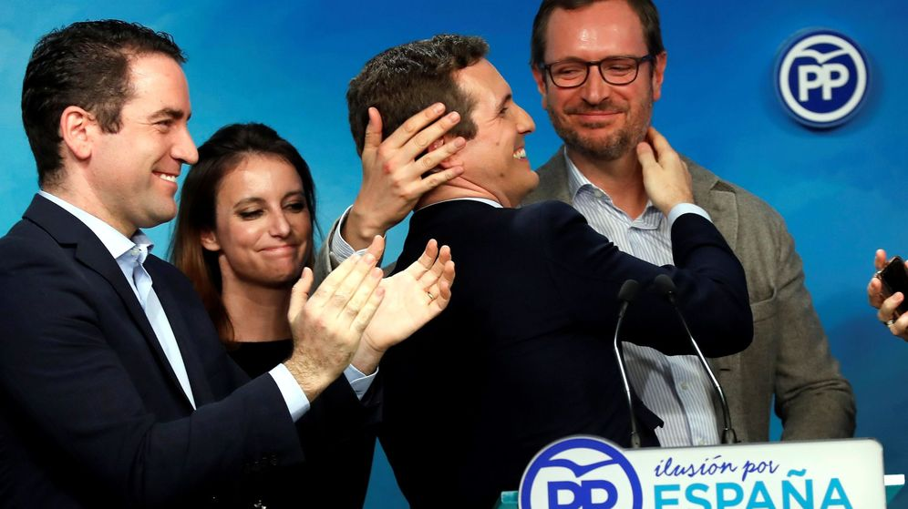 Foto: Pablo Casado, tras conocer los resultados de las elecciones en Andalucía, en la sede de su partido en Madrid. (EFE)
