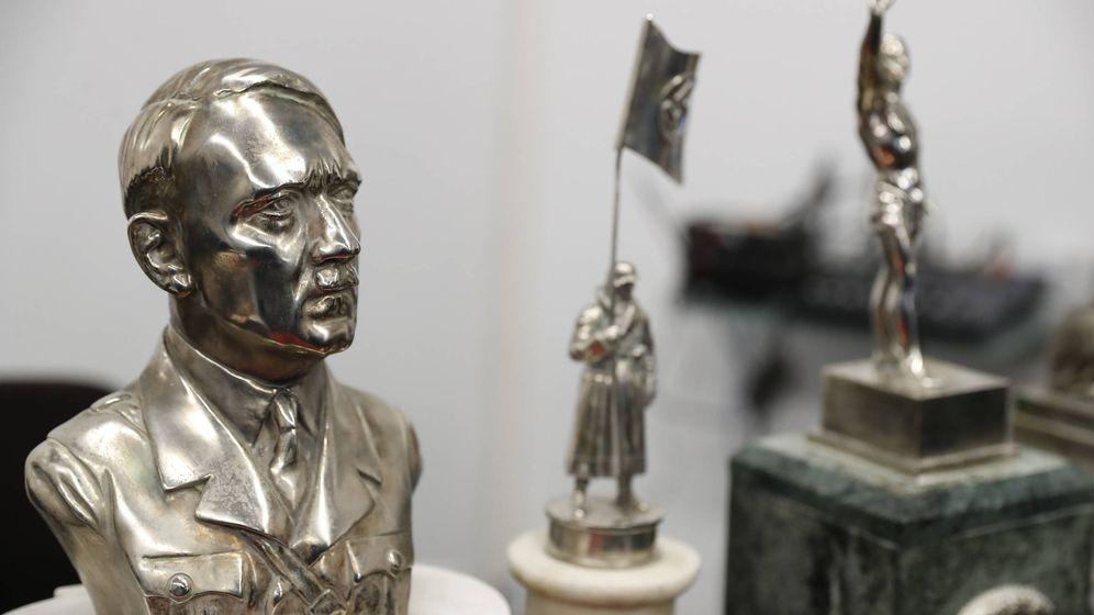 Foto: El busto de Hitler encontrado por la policía argentina. (EFE)