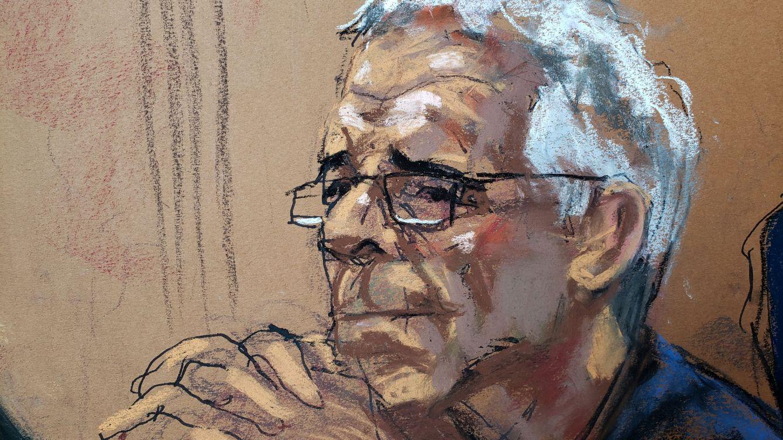 Foto: El empresario fallecido Jeffrey Epstein, en un dibujo durante su juicio en Nueva York, en julio de 2019. (Reuters)