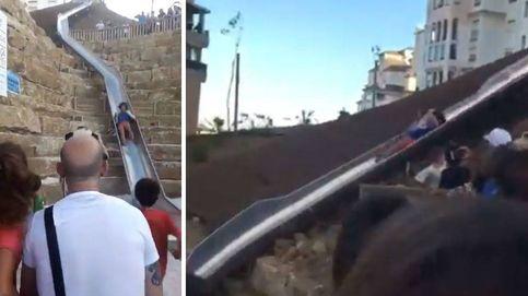 Hola y adiós al tobogán de Estepona: cierra la rampa urbana más grande de España en 1 día