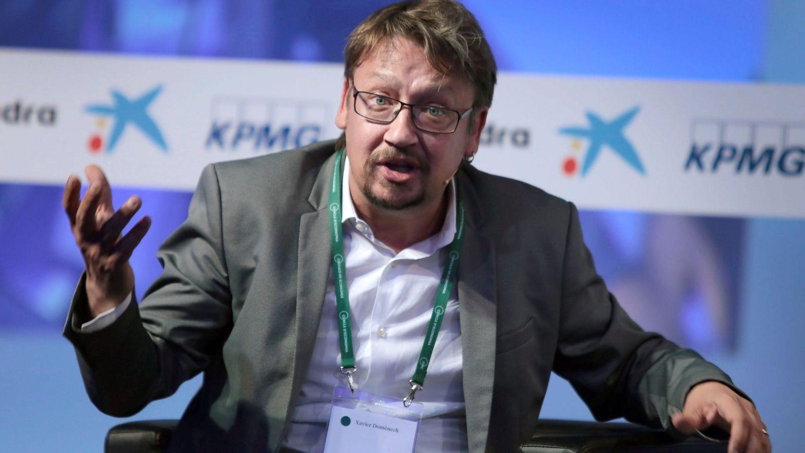 Foto: El ex secretario general de Catalunya en Comú Podem Xavier Domènech, durante un debate de la XXXIV Reunión Anual del Círculo de Economía. (EFE)