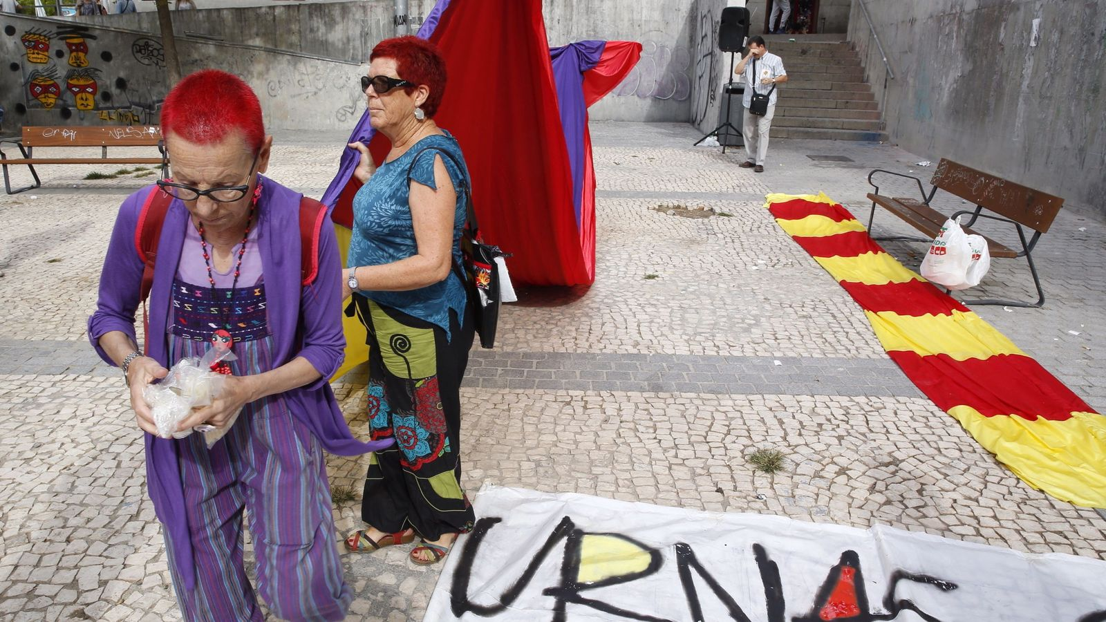 Foto: Acto de 'Madrid abraza Cataluña' con motivo del referéndum del 1-O
