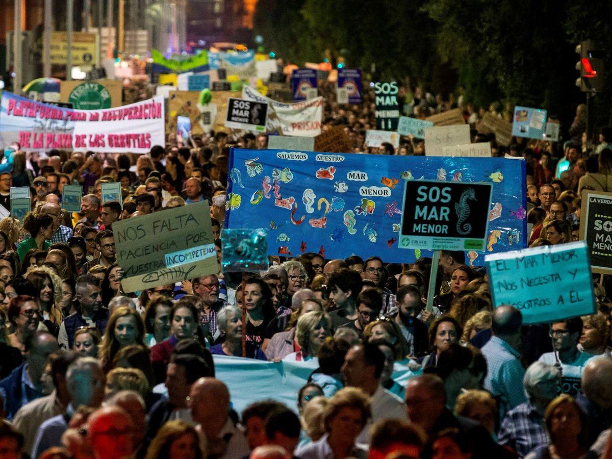 Foto: Unas 55 000 personas, según la Policía Local y la Nacional de Cartagena (Murcia). (EFE)