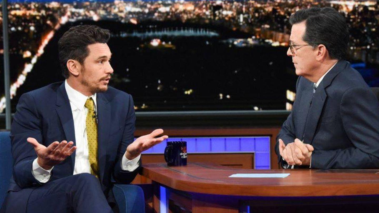 El actor James Franco, en el programa 'The Late Show'.