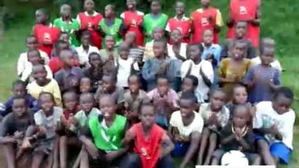 Los niños del Congo que cantan el himno del Athletic