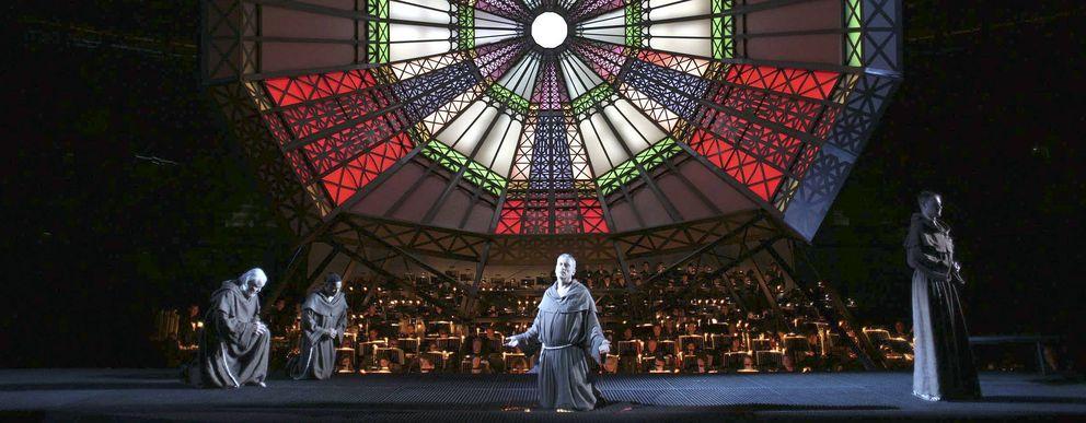 Ensayo general de 'San Francisco de Asís' en el Teatro Real. (Efe)
