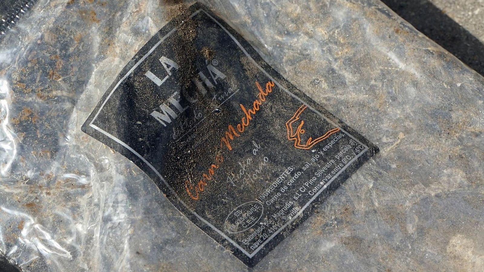 Foto: Un envase vacío de la carne mechada de la marca La Mechá. (EFE)