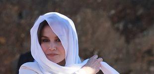 Post de La Reina celebra San Valentín en Rabat con el famoso Armani que lució en su pedida